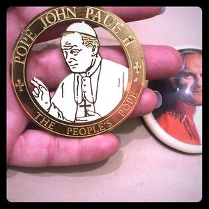 Pope John Paul ornament and paperweight